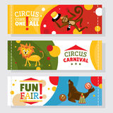 Circus banners with animals Royalty Free Stock Photo