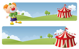 Circus Banners Stock Photo