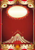 Circus baroque. A baroque circus background with a big top for your advertising Stock Images