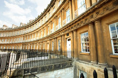 The Circus Bath. The Circus buildings in the UNESCO city of Bath stock images