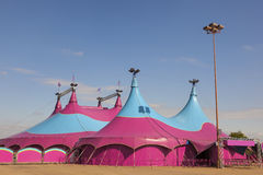 Circus Big Top. Colorful circus big top tent against a blue sky Stock Images