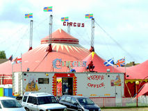 Circus big top, Mablethorpe, Lincolnshire. Royalty Free Stock Images