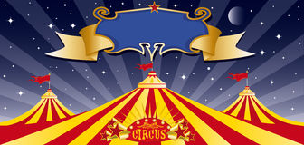 Circus big top in the night Royalty Free Stock Image
