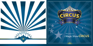 Circus Blue greeting card Stock Images