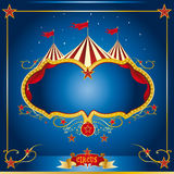 Circus blue leaflet Stock Images