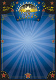 Circus  blue night poster Royalty Free Stock Image