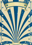 Circus blue vintage poster Stock Image