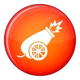 Circus cannon icon, flat style Stock Image