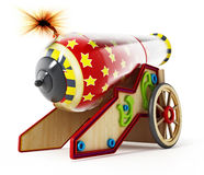 Circus cannon isolated on white background. 3D illustration.  Royalty Free Stock Images