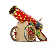 Circus cannon isolated on white background. 3D illustration Royalty Free Stock Photos