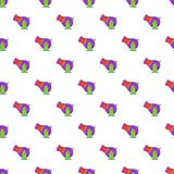 Circus cannon pattern, cartoon style. Circus cannon pattern. Cartoon illustration of circus cannon vector pattern for web Stock Images