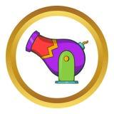 Circus cannon vector icon, cartoon style Stock Photo