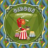 Circus card with acrobat girl Stock Photography