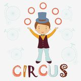 Circus card Royalty Free Stock Images