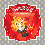 Circus card with a rabbit Royalty Free Stock Photo