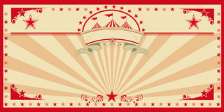 Circus card red vintage royalty free stock photo
