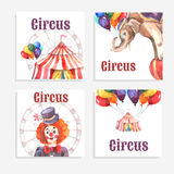 Circus Card Set Royalty Free Stock Image