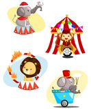 Circus Carnival Animal Vector Set Stock Photography