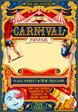 Circus Carnival Illustration vintage 2d vector Royalty Free Stock Image