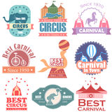 Circus and Carnival label tag sticker for Advertisement Royalty Free Stock Photo
