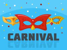 Circus carnival logo, flat style. Circus carnival logo. Flat illustration of circus carnival logo for web Royalty Free Illustration