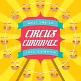 Circus Carnival Poster Template Stock Images