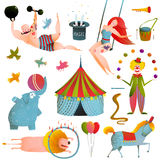 Circus Carnival Show Clip Art Vintage Collection Royalty Free Stock Photos