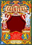 Circus Carnival Theme vintage 2d vector Royalty Free Stock Photo
