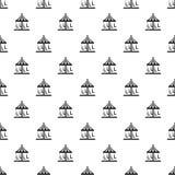 Circus carousel pattern seamless vector stock illustration