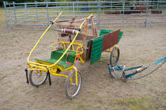Circus carriage. Funny carriage used in a circus by various animals Royalty Free Stock Photos