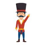 Circus ceremony master icon. Illustration design Royalty Free Stock Image