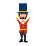 Circus ceremony master icon. Vector illustration design Royalty Free Stock Images
