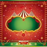 Circus christmas leaflet. A circus christmas or Happy new years card for you Royalty Free Stock Photography