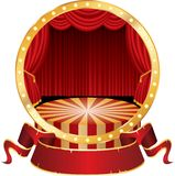Circus circle royalty free illustration