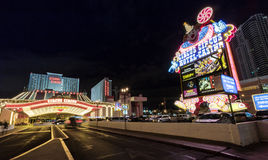 Circus Circus Hotel and Casino entrance at night - Las Vegas, Nevada, USA Stock Photography