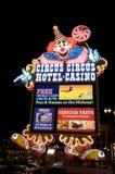 Circus Circus Hotel and Casino in Las Vegas. Circus Circus Hotel and Casino neon sign Stock Photography