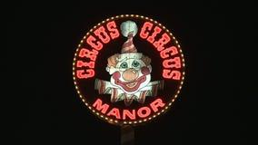 Circus Circus Neon Sign in Las Vegas.  - Clip 3 of  20 stock video