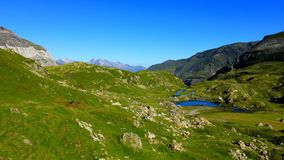 Circus(Cirque) of Troumouse - Lake of Areas. The Circus(Cirque) of Troumouse is situated in the National park of the chain(channel) of Pyrenees. It is an ideal stock image