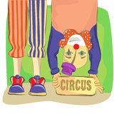 Circus and clown. Illustration vector Royalty Free Stock Photography