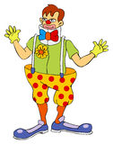 Circus Clown. Cartoon line art for a clown Royalty Free Stock Image