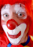 Circus Clown. Full face circus clown with eye contact Royalty Free Stock Photo