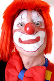 Circus Clown. Full face circus clown with eye contact Royalty Free Stock Photos