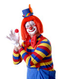 Circus Clown. Holding a ball with eye contact Stock Photos