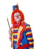 Circus Clown. Holding his magic wand Stock Image