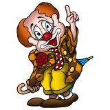Circus clown. High detailed and coloured illustration - Humorous smiling clown Royalty Free Stock Images