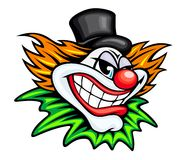 Circus clown. Angry circus clown or joker in cartoon style Stock Photography