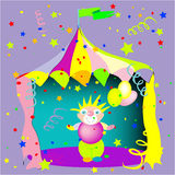 Circus and clown Royalty Free Stock Images