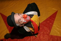 CIRCUS CLOWN. A clown with a surprised expression Royalty Free Stock Photo