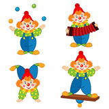 Circus clown in action Stock Photo
