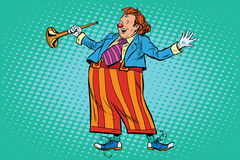 Circus clown in bright clothes Royalty Free Stock Photography